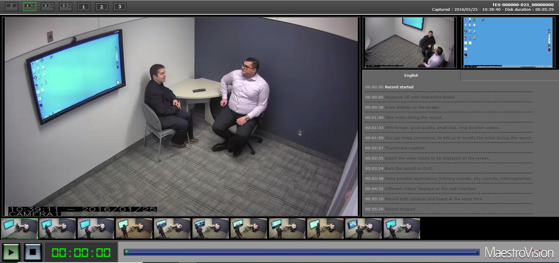 VEOTEK-gestionnaire de medias-enregistrements videos-maestrovision