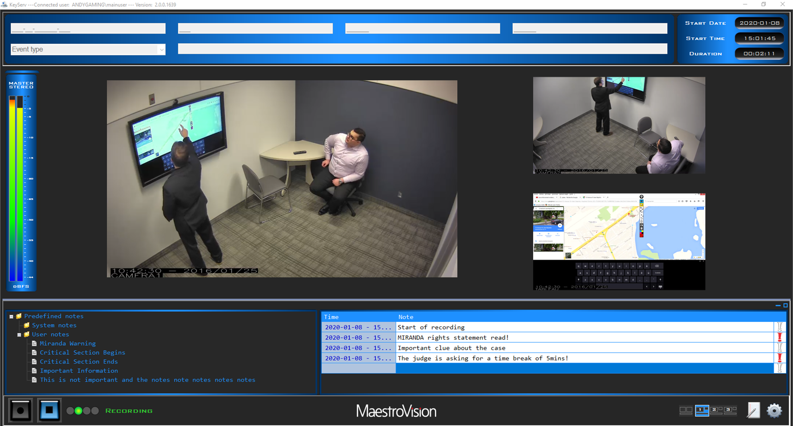 ): Interview Recording Equipment, Recording Video Software, Police Interview Recording