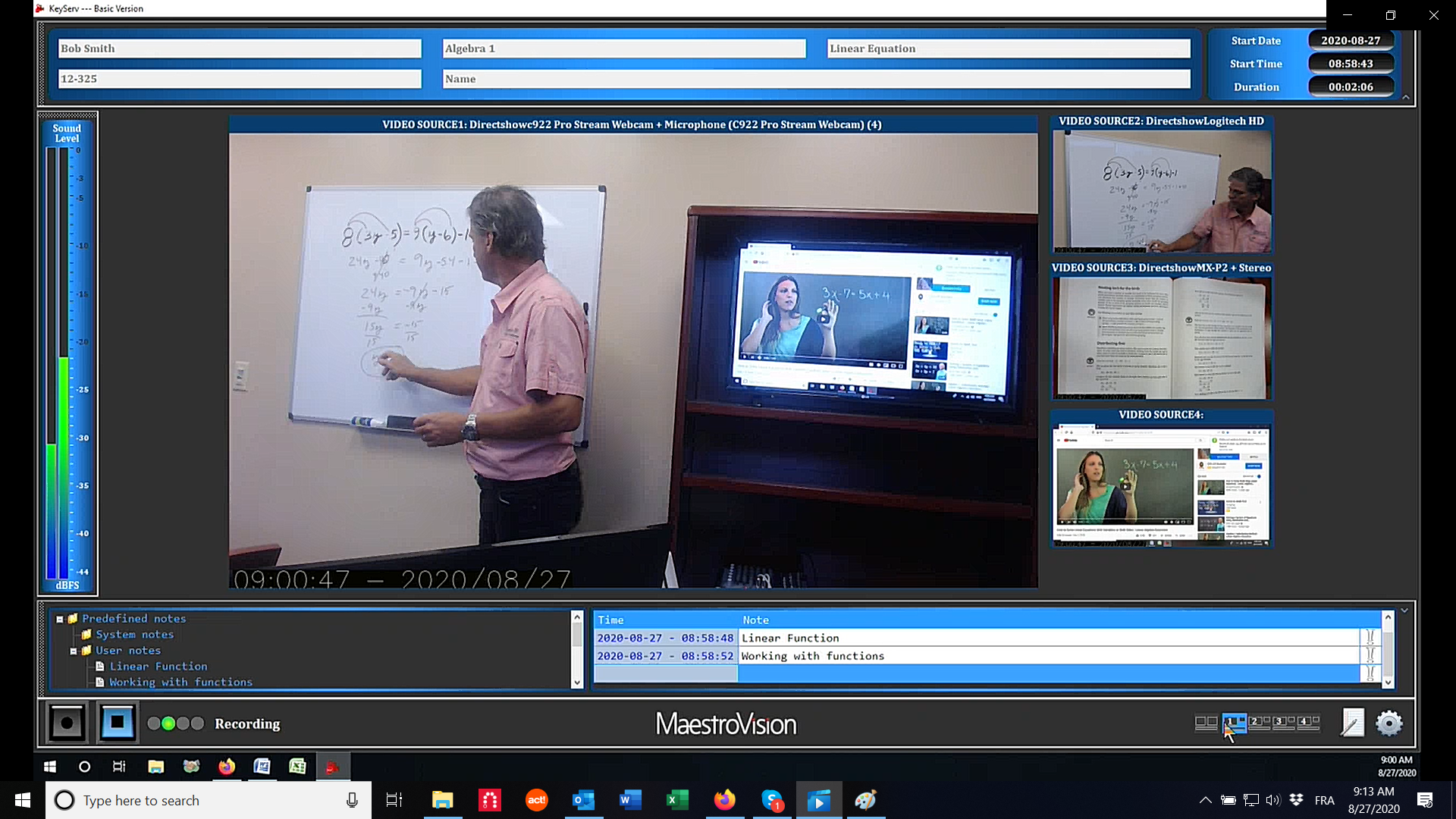 Lecture Recording Software