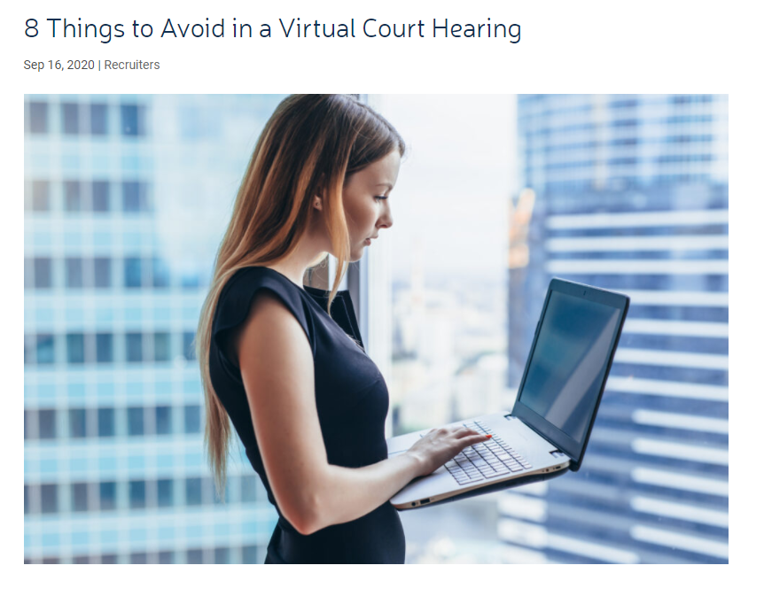 Virtual Court Tips